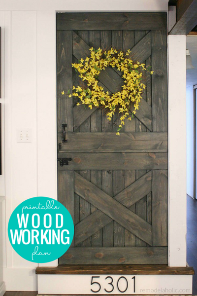 DIY Barn Door Baby Gate Woodworking Plan + Dutch Door Instructions