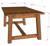 DIY Farmhouse Dining Table Woodworking Plans