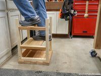Hoosier Step Stool: Flip-Over 2x4 Bar Stool Step Ladder Building Plan