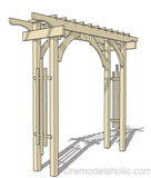 DIY Garden Arbor Wedding Arch Woodworking Plan