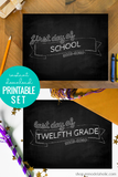 Chalkboard First and Last Day of School Sign Set (2020-2021)