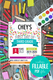 colorful first day of school infographic sign printable