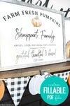 Personalized Family Pumpkin Patch Printable Art BUNDLE for Fall and Thanksgiving