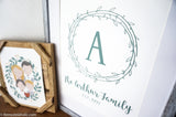 Custom Family Name Wall Art: Farmhouse Printable Monogram