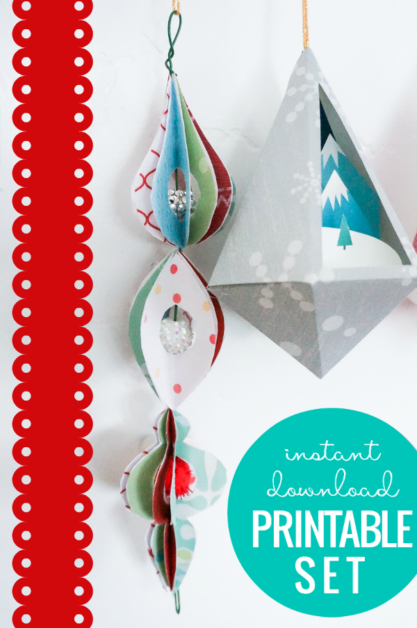 3D Paper Ornament Templates - Printable Christmas ...
