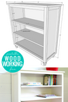 DIY Bookshelf Woodworking Plan with Adjustable Shelves