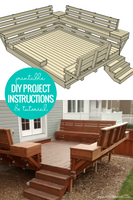 Built-in DIY Deck Bench Woodworking Plan