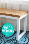 DIY Wood Bench with Chevron Top and Box Leg Base - Woodworking Plans