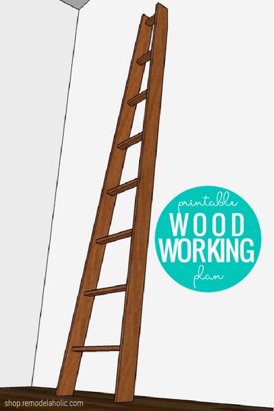DIY Decorative Ladder Woodworking Plan