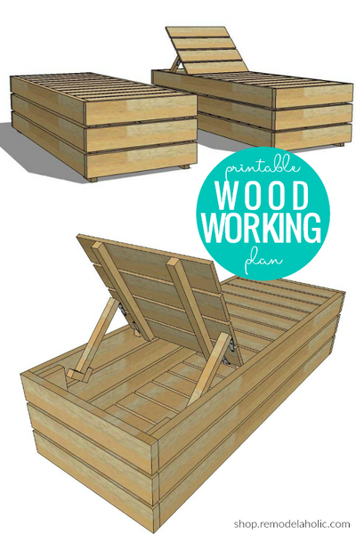 DIY Outdoor Lounge Chair with Storage Woodworking Plans