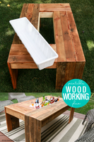 DIY Outdoor Coffee Table with Drink Cooler Woodworking Plan