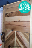 DIY Chevron Barn Door Woodworking Plan