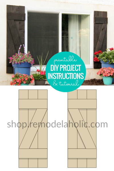 Printable Instructions to Build and Install DIY Wood Shutters on Exterior Windows