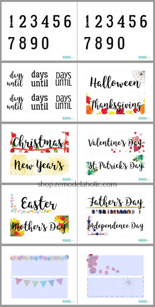 graphic relating to Vacation Countdown Calendar Printable known as Tailor made Vacation Countdown Calendar Printable Fixed for