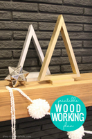 Wood Triangle Tree Woodworking Plan (3 sizes)