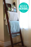 Easy $5 DIY Blanket Ladder Woodworking Plan