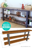 Easy DIY Modern Console Table Woodworking Plans