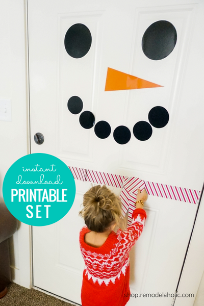 Printable Snowman Door Decorating Kit