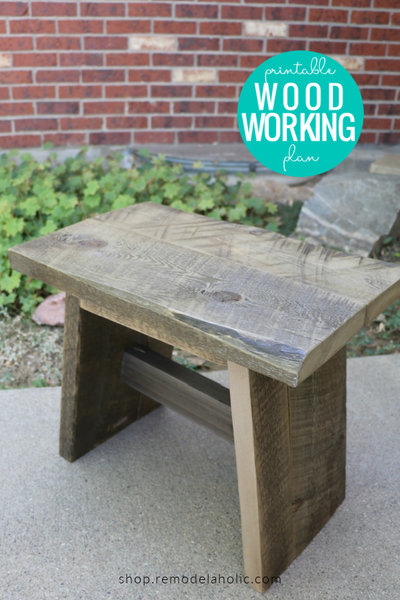 Easy DIY Wood Stool Woodworking Plans