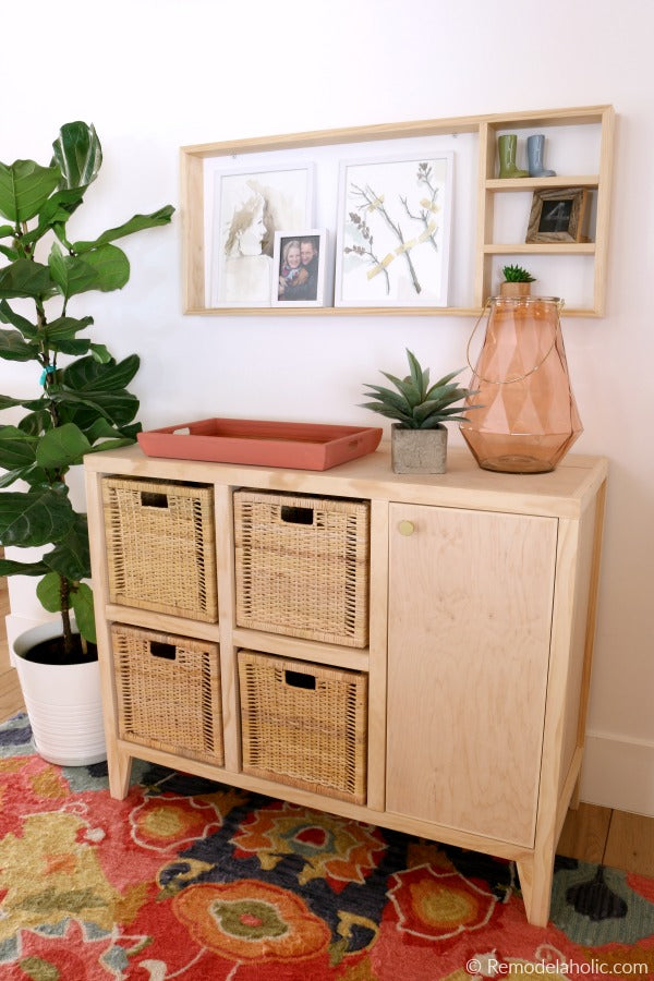 DIY Entry Table with Cubby Storage Woodworking Plan ...