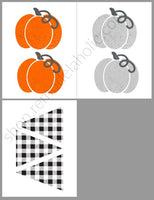 Farmhouse Pumpkin OR Retro Halloween Printable Bunting Garlands