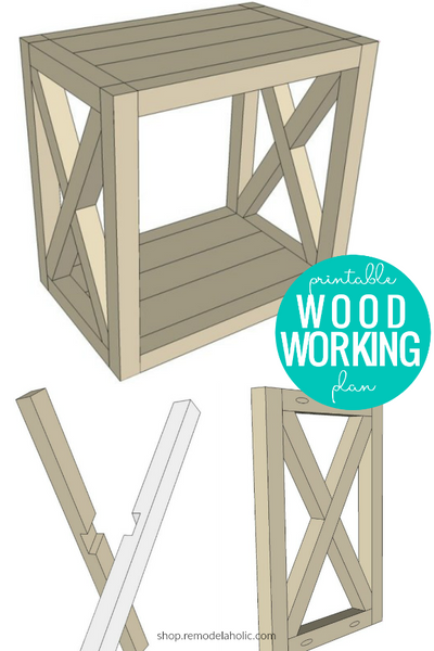 DIY Farmhouse End Table Woodworking Plans