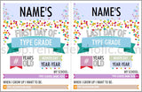 custom text fields for first and last day of school infographic signs