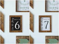 Personalized Printable Family Number Sign with Name