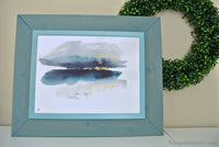 Four Seasons Abstract Landscape Watercolor Art Print Set