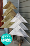 DIY Herringbone Wood Trees Woodworking Plan