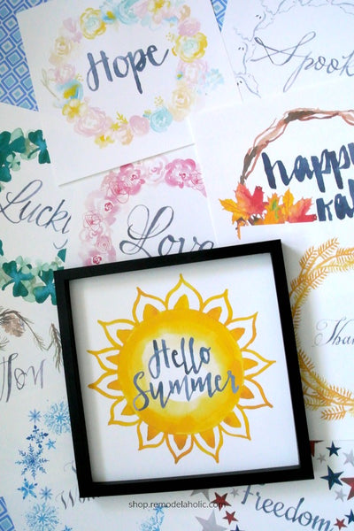 Seasonal Watercolor Wreath Printables for Easy Holiday Decorating
