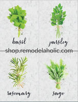 Kitchen Herb Wall Art Printable Set