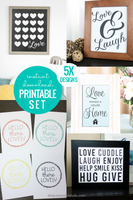 LOVE Printable Wall Art Bundle