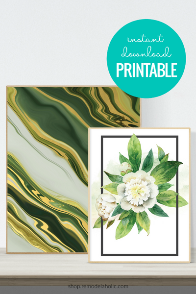 Agate Wall Art Printable Set
