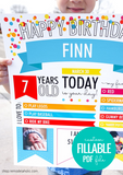 custom fillable birthday infographic printable poster multicolor