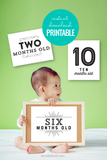 printable baby milestone cards for pictures