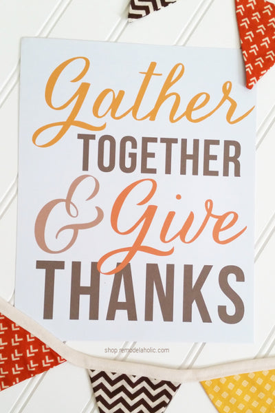 Gather Together and Give Thanks | Thanksgiving Printable