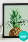 Printable Kitchen Wall Art: Pineapple Word Art