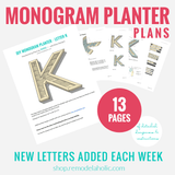 Monogram Planter Woodworking Plans to Build Many Alphabet Letters