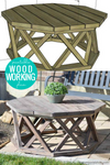 Octagon DIY Outdoor Coffee Table Woodworking Plans