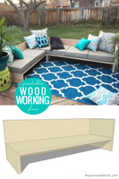DIY Plywood Outdoor Sectional Sofa Woodworking Plans