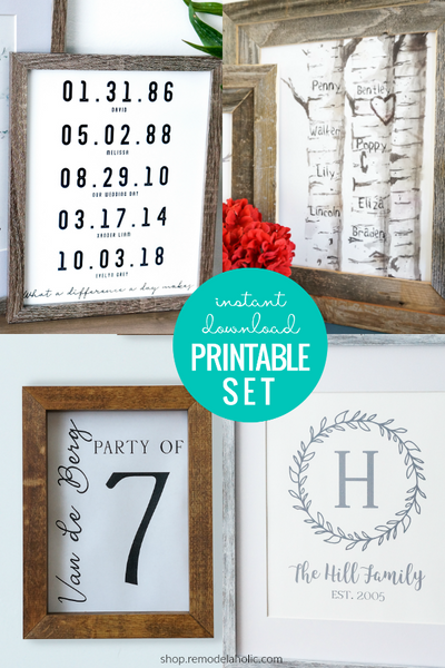 Personalized Family Art Printable BUNDLE - save 65%!