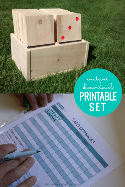 Printable Yard Dominoes Tutorial and Templates