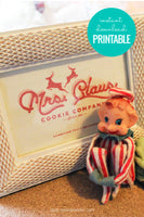 Mrs. Claus Cookie Company Christmas Printable