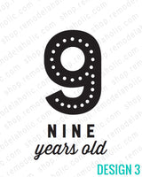 large number age sign printable for birthday photos