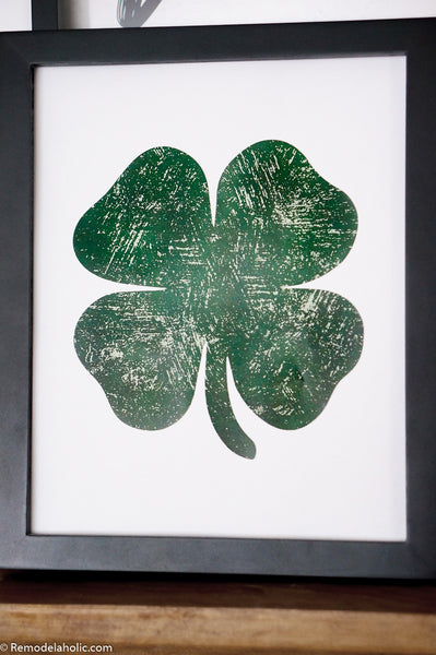 Printable Shamrock Art for St. Patrick's Day
