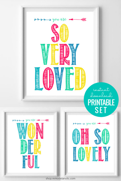 Printable Colorful Affirmations for Kids Wall Art
