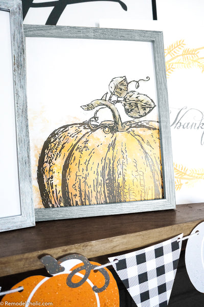 Watercolor Pumpkin Printable Art