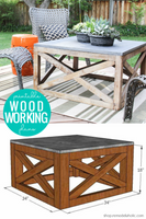 DIY Square Wood Coffee Table (Indoor or Outdoor) Woodworking Plans