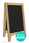 DIY Standing Chalkboard Easel Sign Woodworking Plans